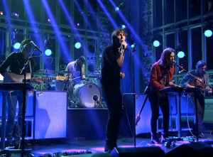 "Phoenix performing ""Entertainment"" on Saturday Night Live"